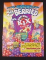 Magazine Ad for Berry Berry Kix Cereal 1995 Marvel Overpower