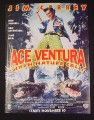 Magazine Ad for Ace Ventura When Nature Calls Movie, 1995, Jim Carrey