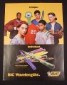 Magazine Ad for Bic Wavelengths Pens, 1998, 7 7/8
