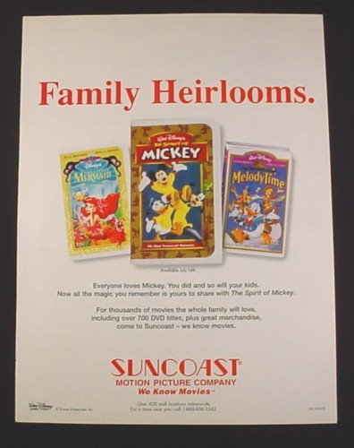 Magazine Ad For Disney Videos 1998 Little Mermaid The