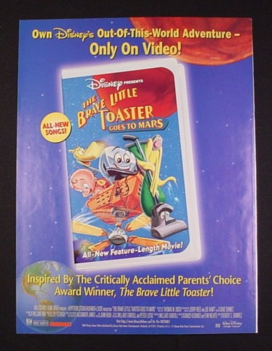 Magazine Ad for Disney The Brave Little Toaster Goes to Mars Movie