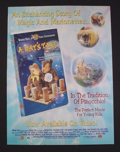 Magazine Ad for A Rat's Tale Movie on Video, 1998