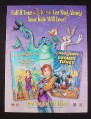 Magazine Ad for Sing Along Quest for Camelot Looney Tunes Videos, 1998