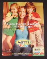 Magazine Ad for Mott's For Tots, 2009, Marcia Cross Celebrity Endorsement