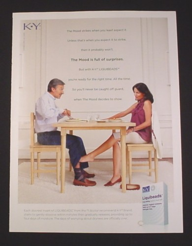 Magazine Ad For Ky Liquibeads 2009 Foot On Man S Leg Under Table Magazines Ads And Books
