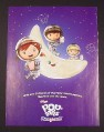 Magazine Ad for Pop Tarts Kids in Spacesuits on Moon, 2009