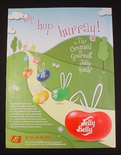 Magazine Ad for Jelly Belly Jelly Beans Candy, 2009