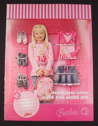 Magazine Ad For Barbie Clothes For Girls 2008 Zellers Magazines