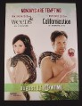 Magazine Ad for Weeds & Californication TV Shows, 2007, Showtime
