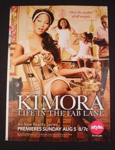 Magazine Ad for Kimora Life In The Fab Lane TV Shows, 2007, Reality