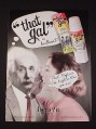 "Magazine Ad for That Gal Face Primer, 2007, Einstein, 8"" by 10 3/4"""
