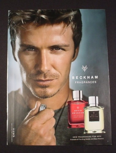 Magazine Ad for David Beckham Fragrances, 2007, Celebrity