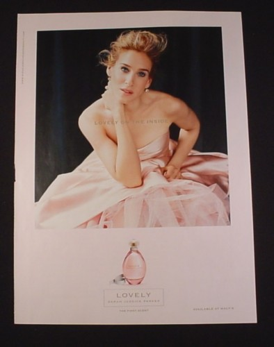 Magazine Ad for Lovely Fragrance, 2007, Sarah Jessica Parker Endorsement