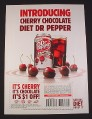 Magazine Ad for Cherry Chocolate Diet Dr Pepper, 2008