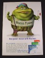 Magazine Ad for Mucinex, 2008, Flower Power Muccus Figure