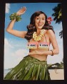 Magazine Ad for Orbit Maui Melon Mint, 2008, Hula Dancer