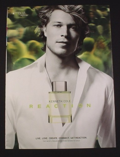 Magazine Ad for Kenneth Cole Reaction Fragrance for Men, 2007