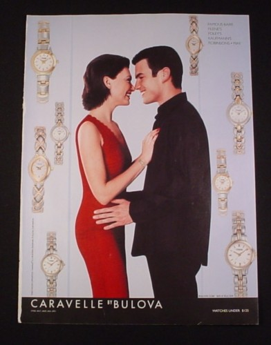 "Magazine Ad for Bulova Caravelle Watches, 2002, 8"" by 10 3/4"""