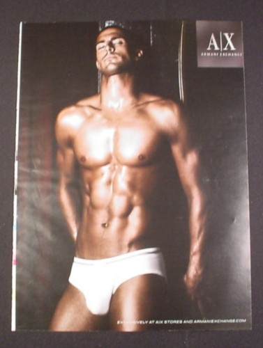 9e434ae8e Magazine Ad for Armani Exchange A X Men s Underwear 2007 Tanned Man -  Magazines Ads and Books Store