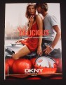 Magazine Ad for DKNY Red Delicious Fragrance, 2007, Motorcycle