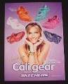 Magazine Ad for Skechers Cali Gear, 2007, Ashlee Simpson Celebrity
