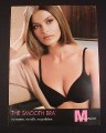 Magazine Ad for Maidenform The Smooth Bra, 2007, Black Lingerie