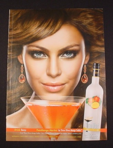Magazine Ad for Three Olives Mango Vodka, 2007, Drink Sexy