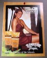 Magazine Ad for Hawaiian Tropic Island Radiance Self Tanner, 2008