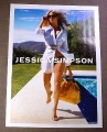 Magazine Ad for Jessica Simpson Bathing Suit, 2008, Celebrity Endorsement