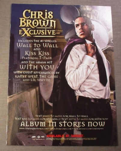 Magazine Ad for Chris Brown Exclusive Album, 2008, Wall To Wall, Kiss Kiss