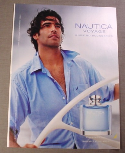 Magazine Ad for Nautica Voyage Fragrance for Men, 2008, Steering Ship