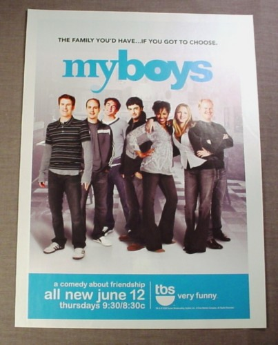 "Magazine Ad for MyBoys My Boys TV Show, 2008, TBS, 8"" by 10 3/4"""