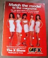 Magazine Ad for The X Show TV Show, 1999, FX Network