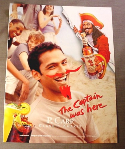 Magazine Ad for Captain Morgan Spiced Rum, 1999, Classic Khakis