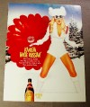 Magazine Ad for Kahlua White Russian, 1999, Woman & Red Parachute