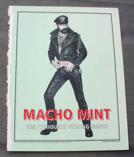 Magazine Ad for Altoids, 1999, Macho Mint, Village People Looking Man