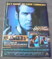 Magazine Ad for The World Is Not Enough Movie on VHS & DVD, 2000
