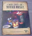Magazine Ad for Jack Daniels Whiskey 2000 Tastes Like No Other Whiskey