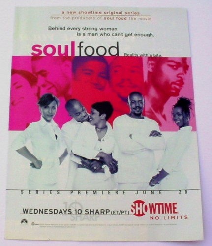 Magazine Ad For Soul Food Tv Show 2000 Reality Showtime