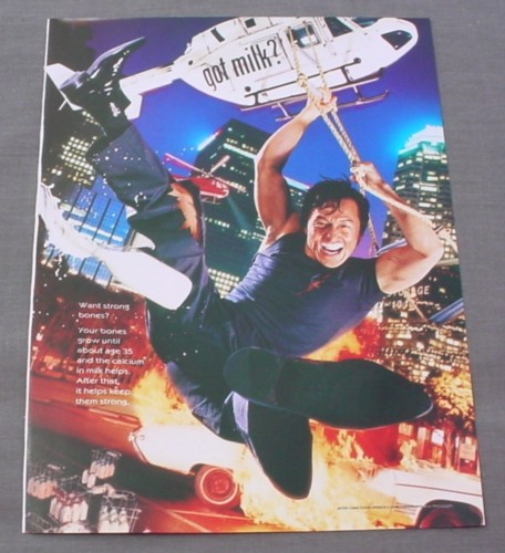 Magazine Ad for Got Milk Jackie Chan, 2000, Celebrity Endorsement