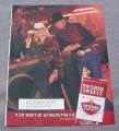 Magazine Ad for Swisher Sweets Little Cigars, Cowgirl at the Bar 2000