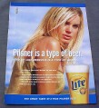 Magazine Ad for Miller Lite Beer, Rebecca Romijn Stamos, 1999
