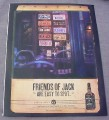 Magazine Ad for Jack Daniel's Whiskey, 1999, License Plates on Wall