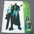 Magazine Ad for Rick's Spiked Margarita, 2001, Rocker & Violinist