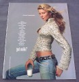 Magazine Ad for Got Milk, Gisele Bundchen, 2001, Model Behaviour