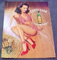 Magazine Ad for Cutty Sark Whisky 2000 Sexy Pin-Up Girl Polka Dot Bikini
