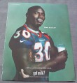 Magazine Ad for Got Milk Terrell Davis, 2000, Denver Broncos