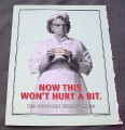 Magazine Ad for Altoids 2000 Grumpy Nurse Now This Won't Hurt A Bit