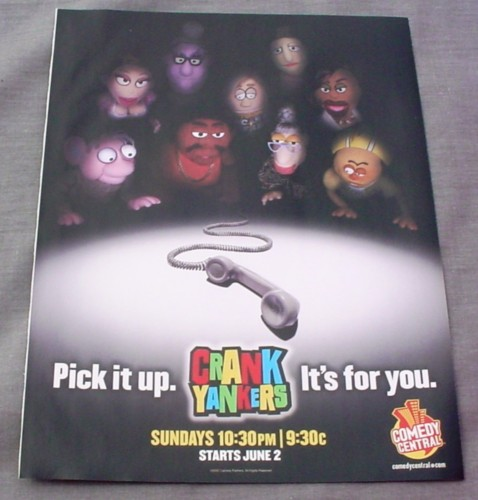 Magazine Ad for Crank Yankers TV Show, 2002, Comedy Central