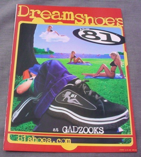 Magazine Ad for Dream Shoes Sneakers 2001 Dreaming of Girls in Bikinis